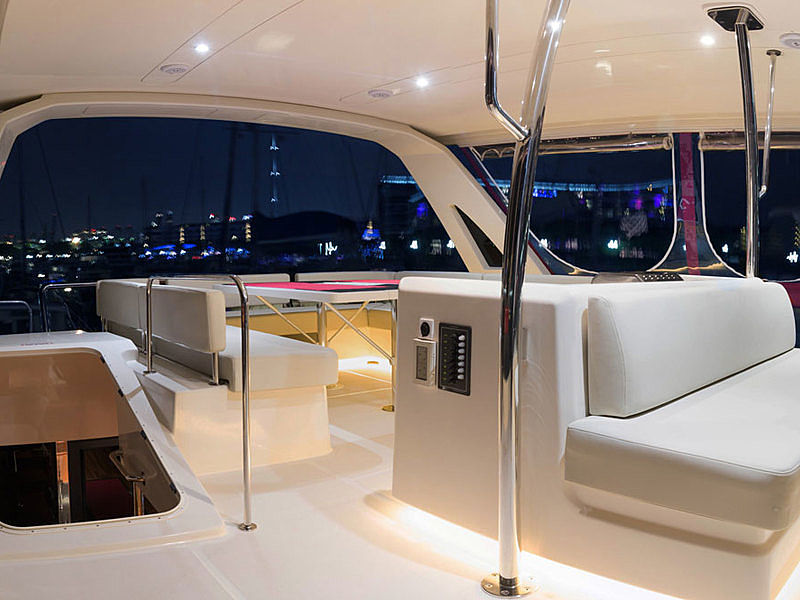 yacht interior with seating