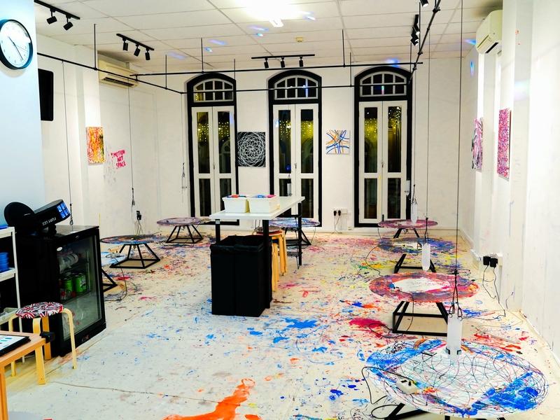 art studio with art supplies