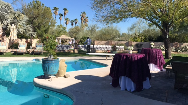 Stevie's parents backyard was just the perfect size and location for our ceremony.