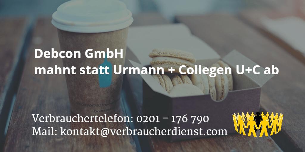 Beitragsbild: Debcon GmbH mahnt statt Urmann + Collegen U+C ab