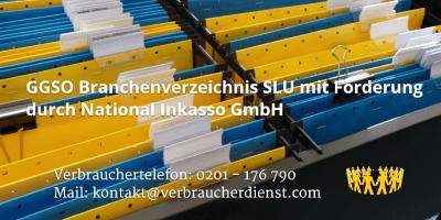 Beitragsbild: GGSO Branchenverzeichnis SLU mit Forderung durch National Inkasso GmbH