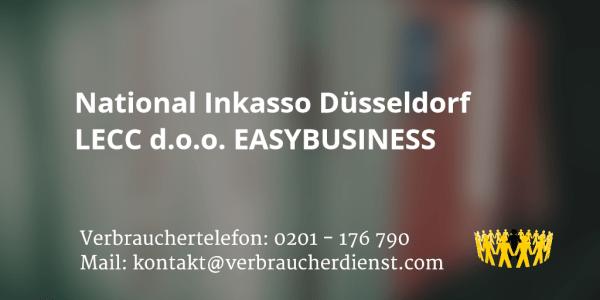Beitragsbild National Inkasso Düsseldorf LECC d.o.o. EASYBUSINESS