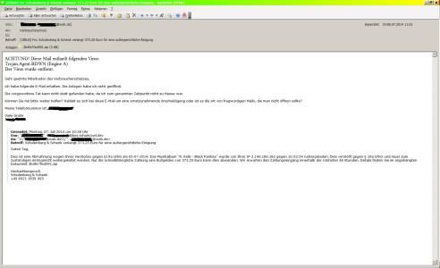 Fake Abmahnung per Email
