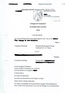 Bild Urteil Abmahnung Condor KillTheory