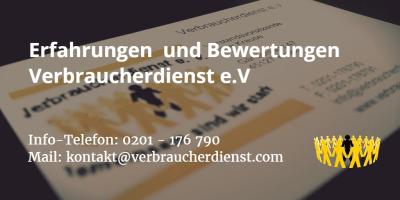 Beitragsbild: Erfahrungen | Bewertungen | Verbraucherdienst e.V
