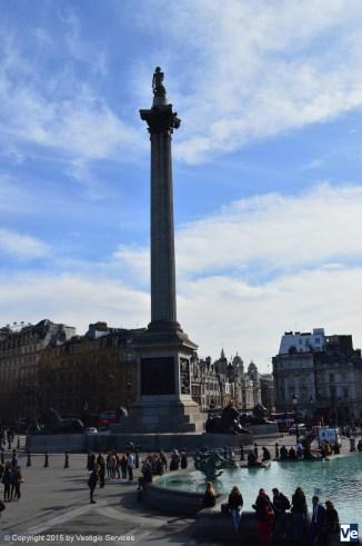 Колонна Нельсона Trafalgar Square