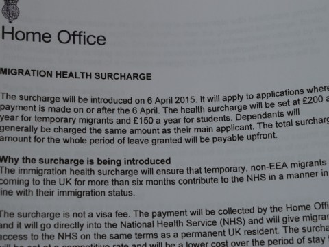 Immigration Health Surcharge