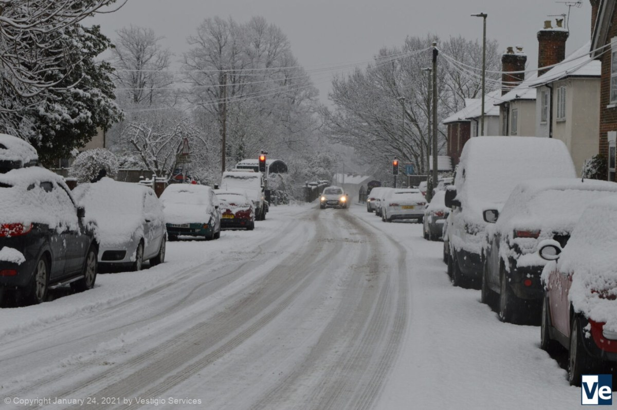 Снегопад на юге Англии: 24 января 2021