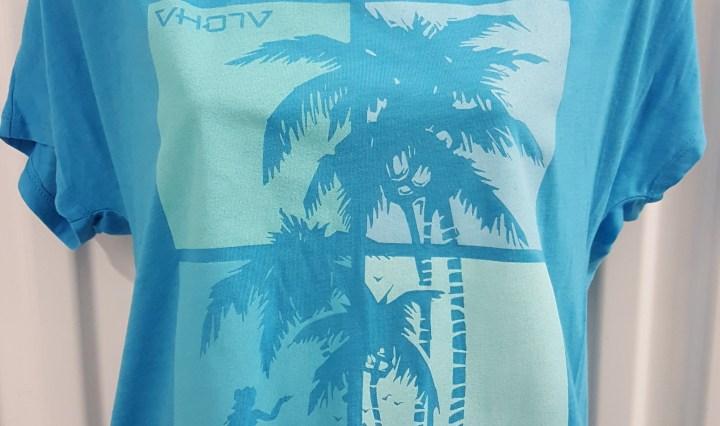 "Ladies ""Sway"" Tri-Blend Dolman Jersey in Turquoise"
