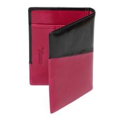 NewYork Distressed Leather Travel Passport Wallet - Black