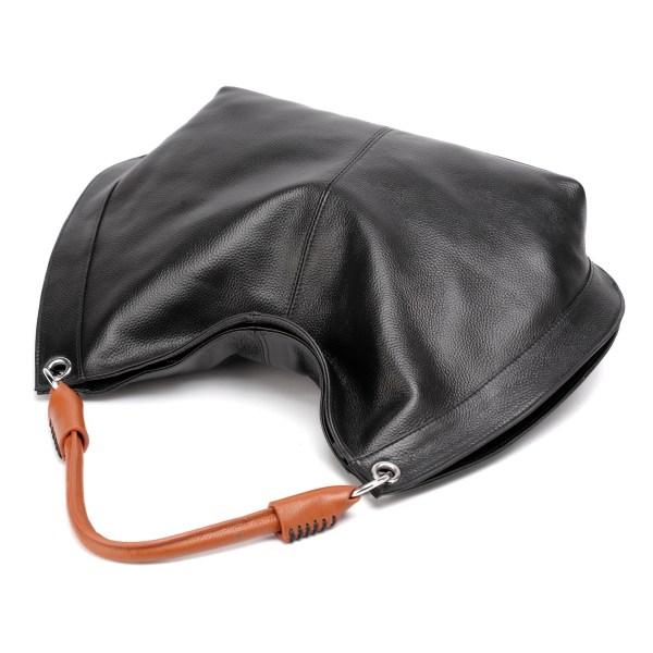 amelia leather pebble handbag