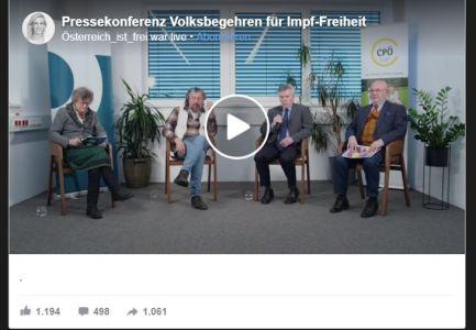 Pressekonferenz Volksbegehren für Impf-Freiheit