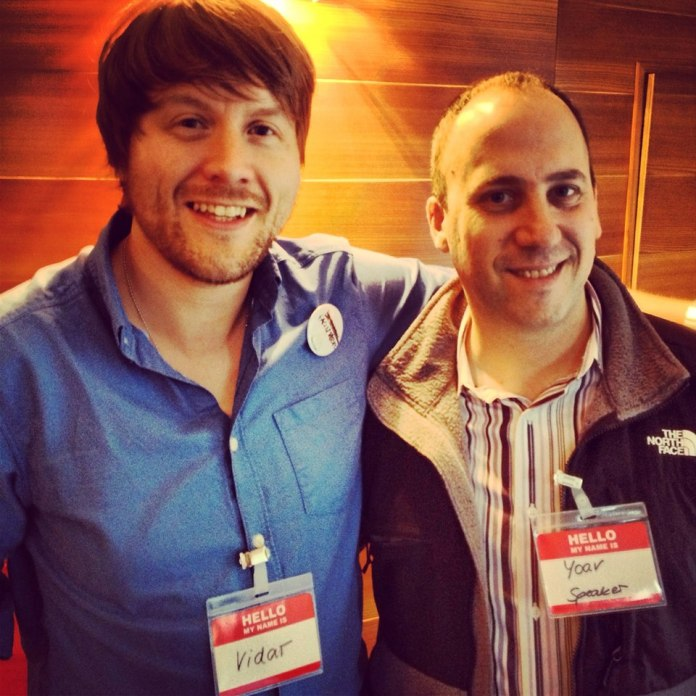 Look who I met!  Magento co-founder Yoav Kutner was one of the Startup Weekend Leipzig speakers