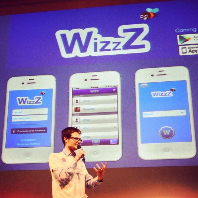 WhizzZ pitching at Microsoft France HQ