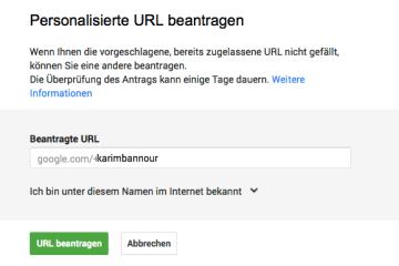 G+Vanity-URL-beantragen