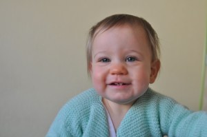 Alice with her first teeth