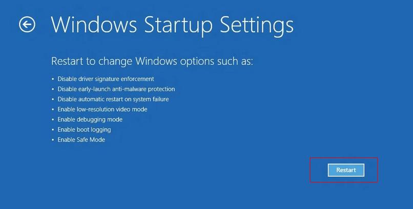 Image result for windows 10 Startup Settings -8