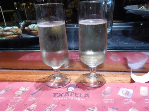 We concluded our visit to Txapela with glasses of Spanish Cava, compliments of the house.