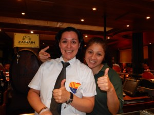 Yolanda (left) and Maria made our first authentic tapas expedition an experience to remember.