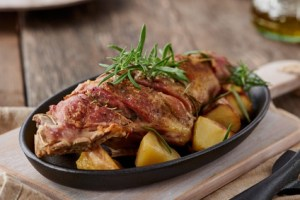 roasted lamb leg