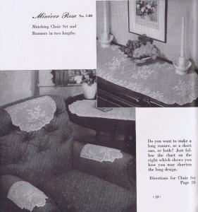 rose filet chair set | runner patterns