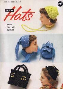 vintage knitting crochet hat bag collar patterns