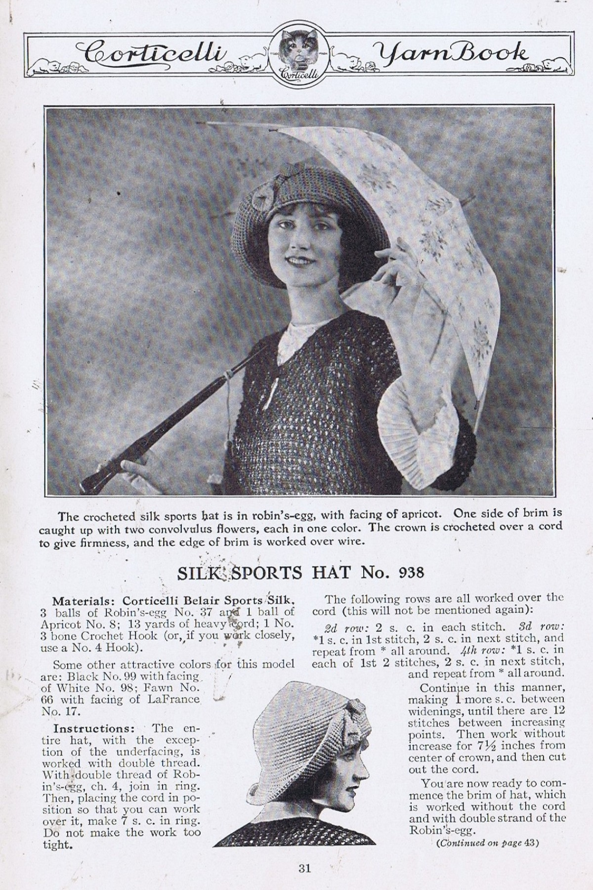 Vintage Knitting Pattern Books : FREE Vintage 1920s Knitting and Crochet Pattern Book ...