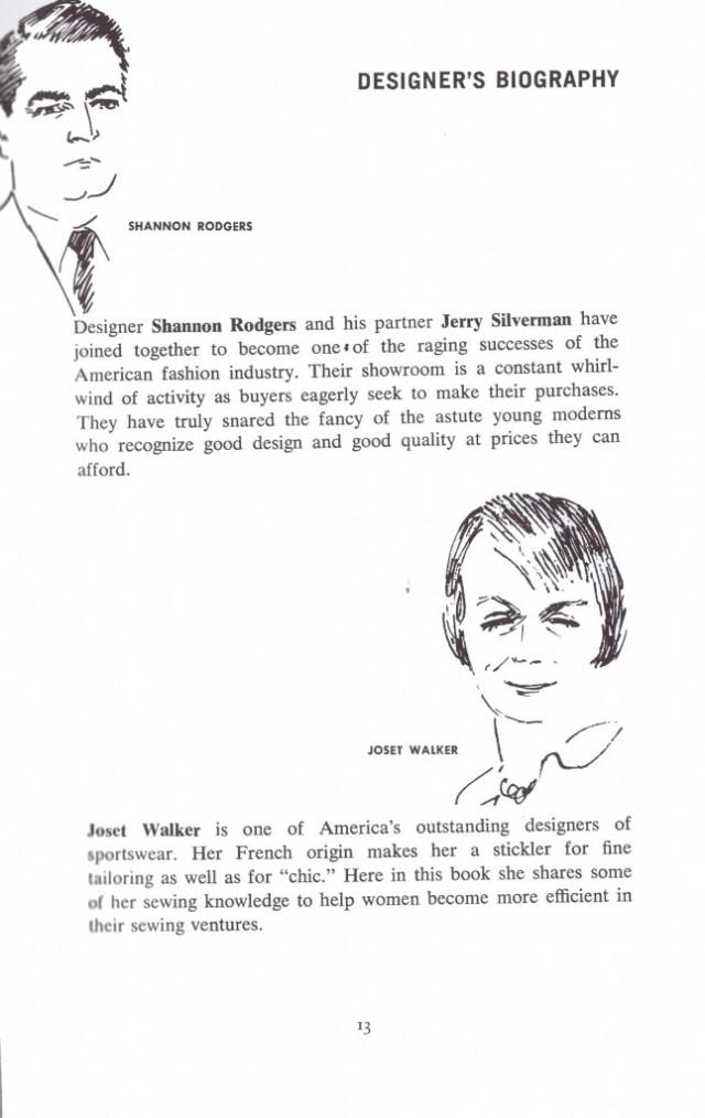 Designer Bio Shannon Roger   Joset Walker