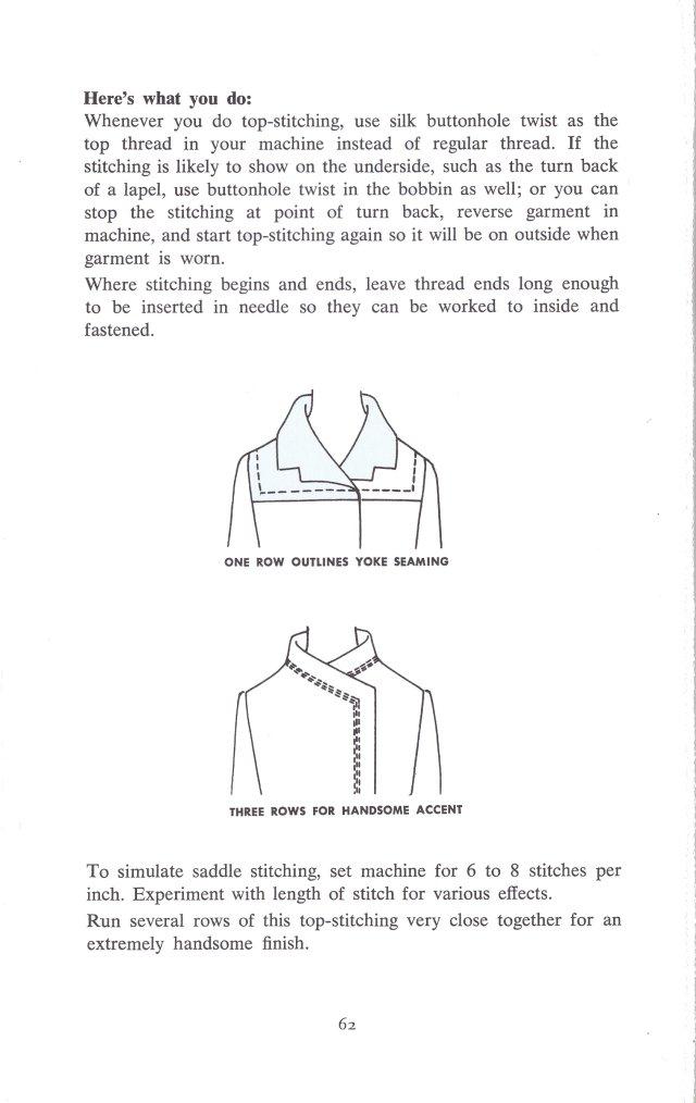 sewing top stitch stitching