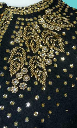 Jeweled Buttons Designer Vintage Sewing Tips