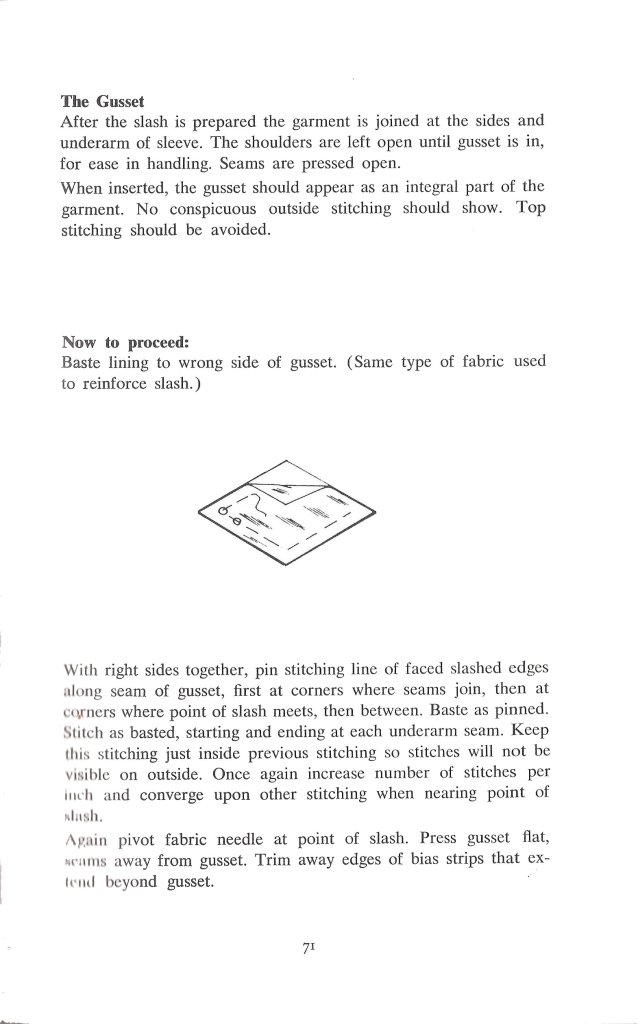 gussets sewing tips dressmaking