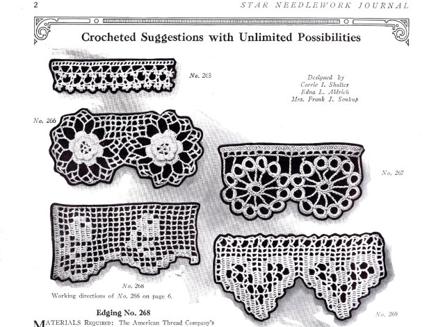 crochet pattern edgings americna thread 1920s 20s patterns