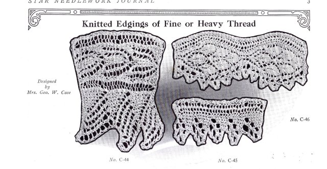 knit knitted knitting edgings patterns free star