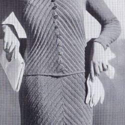 vintage knitting pattern sports suit two piece