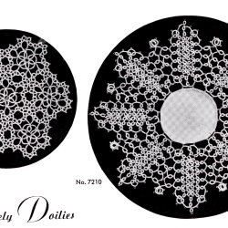 doily Tatting patterns 1940s