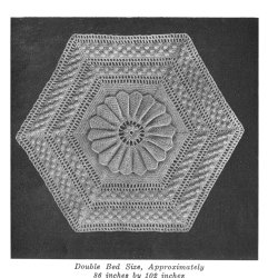 crocheted water lily motif