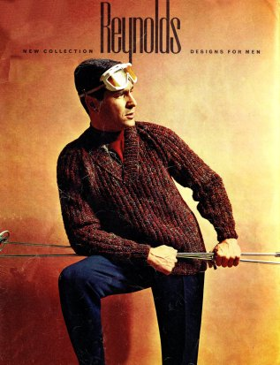 vintage 60s sweater pullover mens knitting pattern