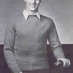 high neck slipon mens knitting pattern vintage 30s