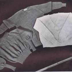 vintage knitting patterns turtle crew v neck slipon pattern