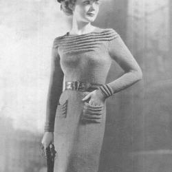 vintage 1930s Swagger Frock Dress Pattern