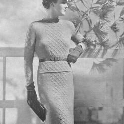 Knit Two Piece Knit Dress pattern