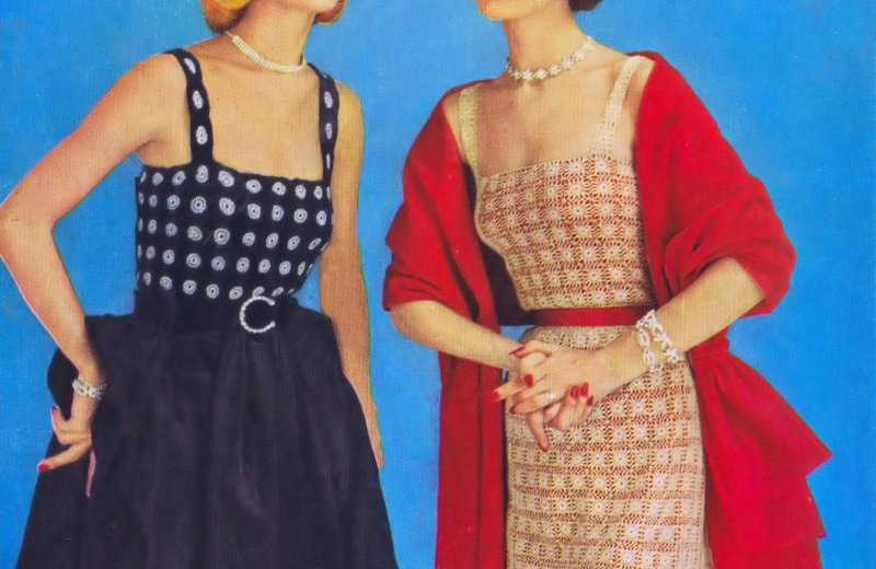 Lesson Two - Crochet Tutorial Ester and Elaine Vintage Crochet Patterns Dress|Camisole 1950s