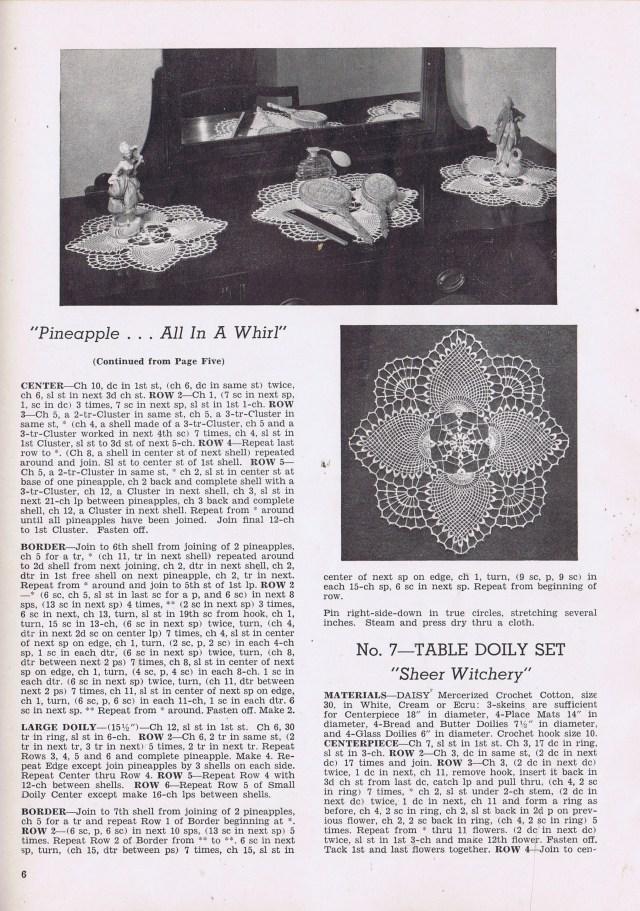 doily liliy mills book 1600 1950 vintage crochet pattern