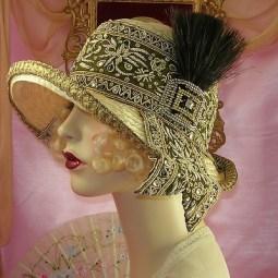 1920's vintage flapper hat
