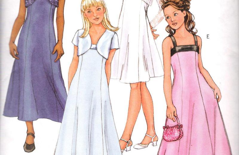 4385 Butterick Jacket Dress Sewing Pattern Plus Girls Size 7-14