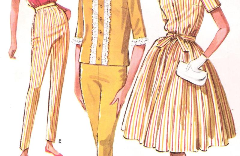 6203 Mccalls dress vintage sewing pattern pants blouse