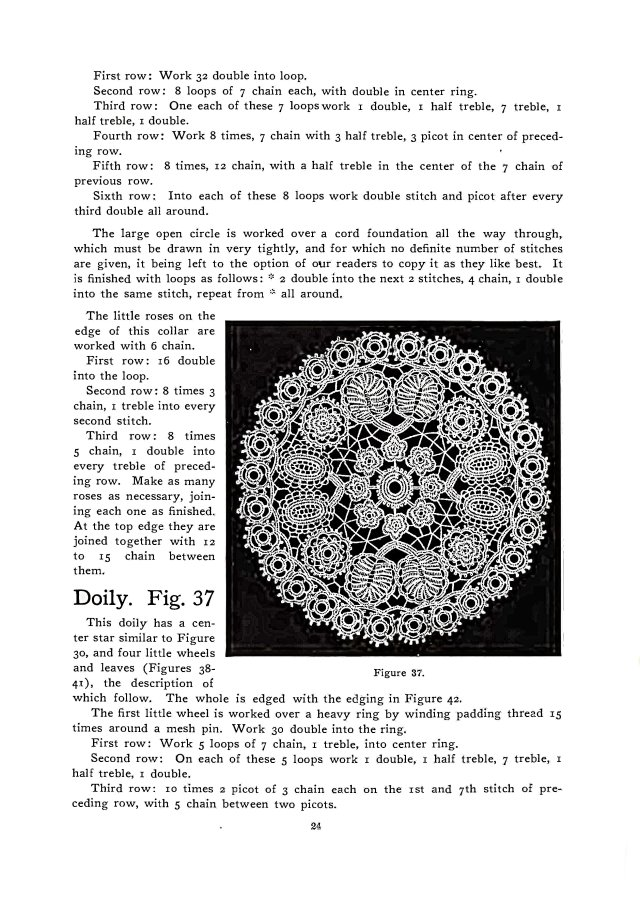 doily irish crochet