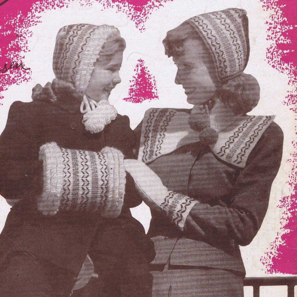 Free Vintage Crochet Patterns 1940's Hats Bags Muffs Mittens Hoods