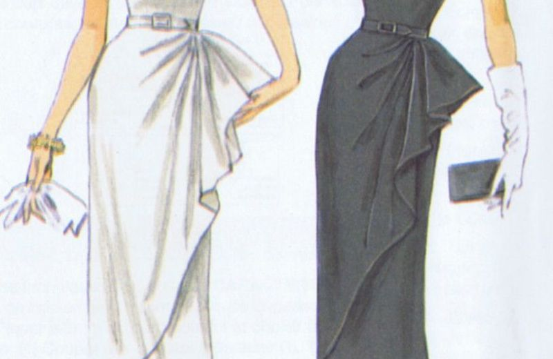 BUTTERICK 5880 Cocktail Dress 50s VINTAGE