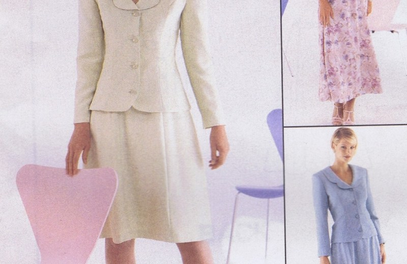 MCCALLS 8616 Suit Jacket Skirt Sewing Pattern SIZE 8-12 UNCUT